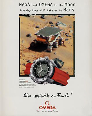 Omega Mars Watch Ad