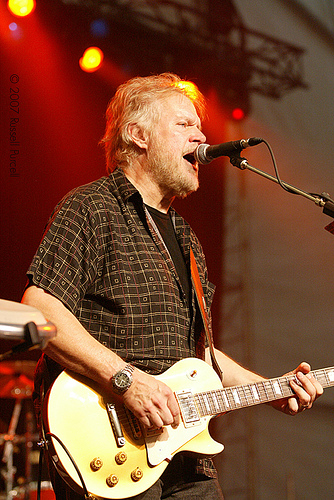 Musician Randy Bachman wearing an X-33