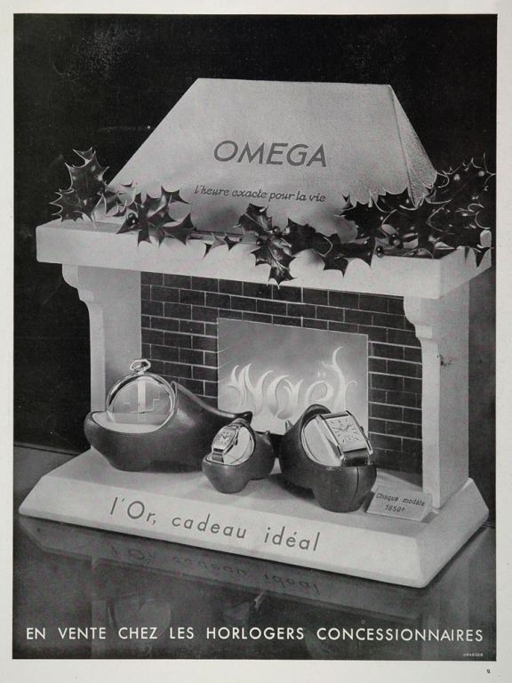 Omega Christmas Ad from 1933