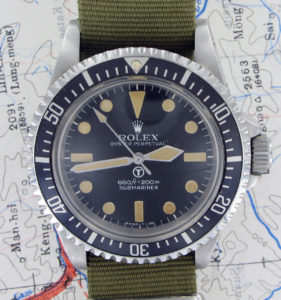 1970s Rolex SBS Submariner 5517.  Photo: James Dowling