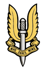 Who Dares Wins winged sword of damocles insignia of the British SAS.