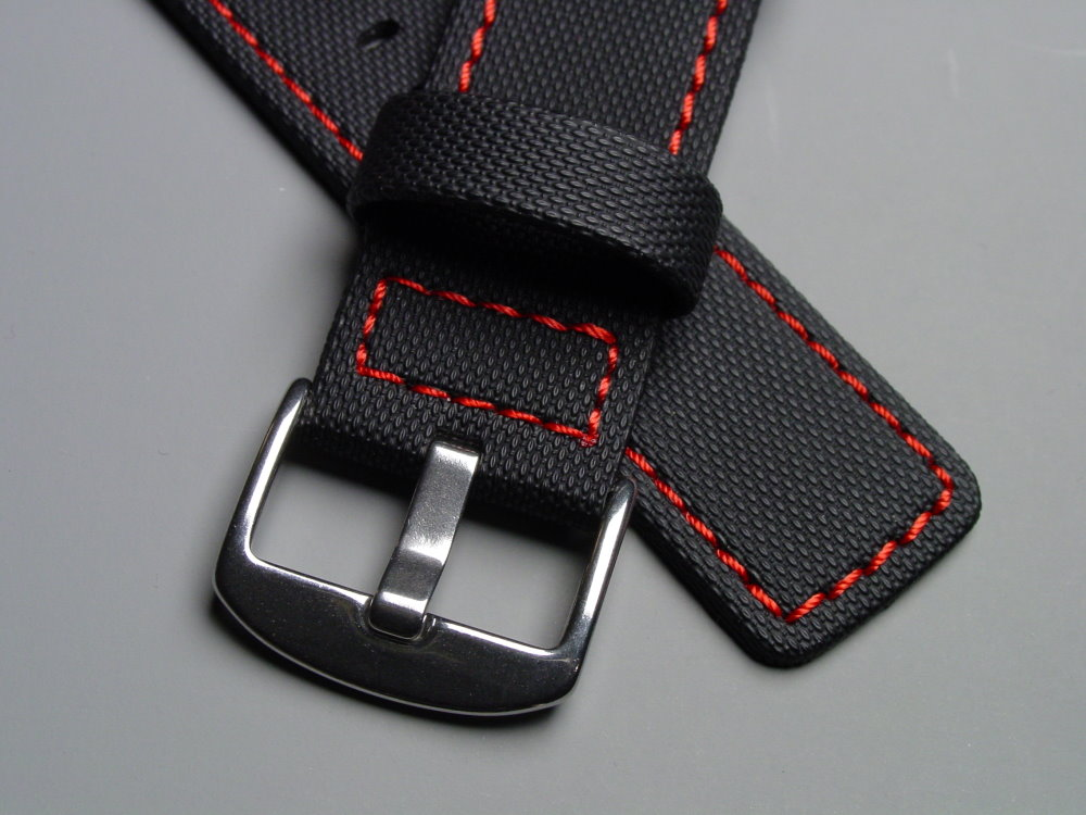 Maratac Elite Series strap, identical construction but clearly and honestly described as 'contains no Kevlar.'