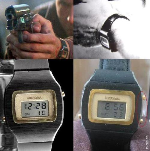 Microma LCD Digital as Worn by Harrison Ford as Decard in Blade Runner, 1982