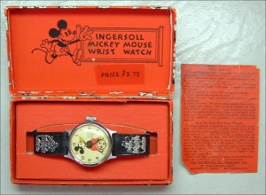 Restored Vintage Mickey Mouse Watch.  Photo Watchspot.net