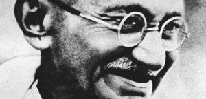 Gandhi's iconic round eyeglasses
