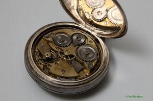 Zenith-signed mechanical alarm movement.