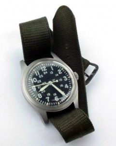 Hamilton MIL-W-46374 US military watch, circa 1978. Photo: Hyunsuk.
