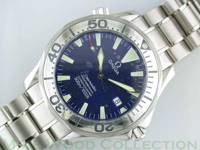 "Royal Navy Clearance Diver Omega Seamaster Professional with ""electric blue"" dial and polished steel bezel."