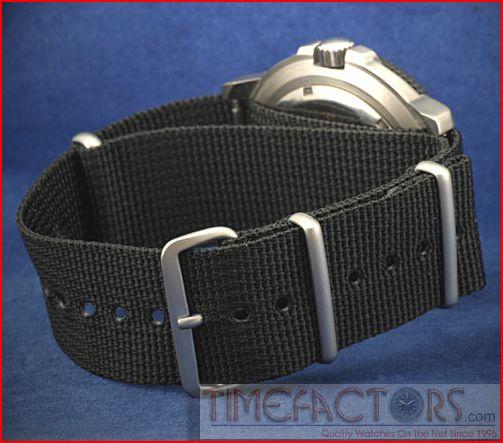 """Timefactors G10/""""NATO"""" strap in black"""