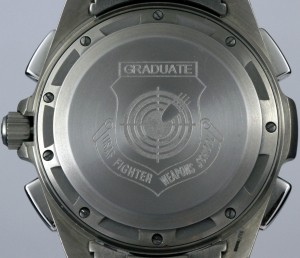 Military Omega Spedmaster X-33 with engraving of Graduate, USAF Fighter Weapons School