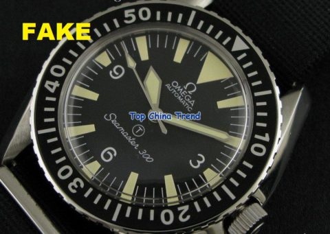 "Chinese Fake Seamaster 300.  Note the ""SeaNaster"" text on the dial.  Close, but not quite."