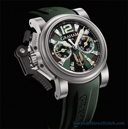 Graham SAS Chronofighter Oversize Titanium.  Egads.
