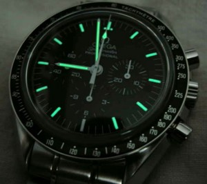 Omega Speedmaster Professional with 6 o'clock marker that no longer glows.  Water damage turned out to be the culprit.