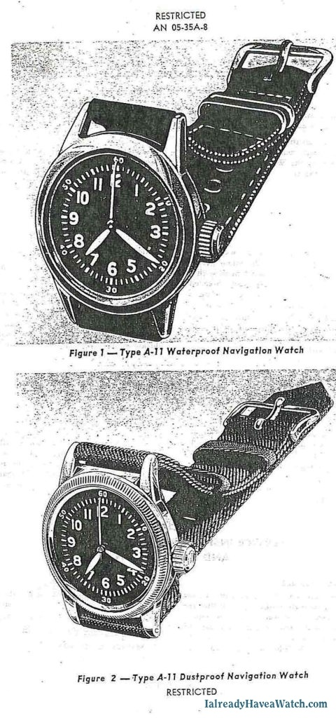 Waltham A-11 Hack Watch Manual