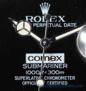 Lot 374 in Antiquorum Dec. 9: Rolex COMEX Submariner, Ref. 168000, 1986.
